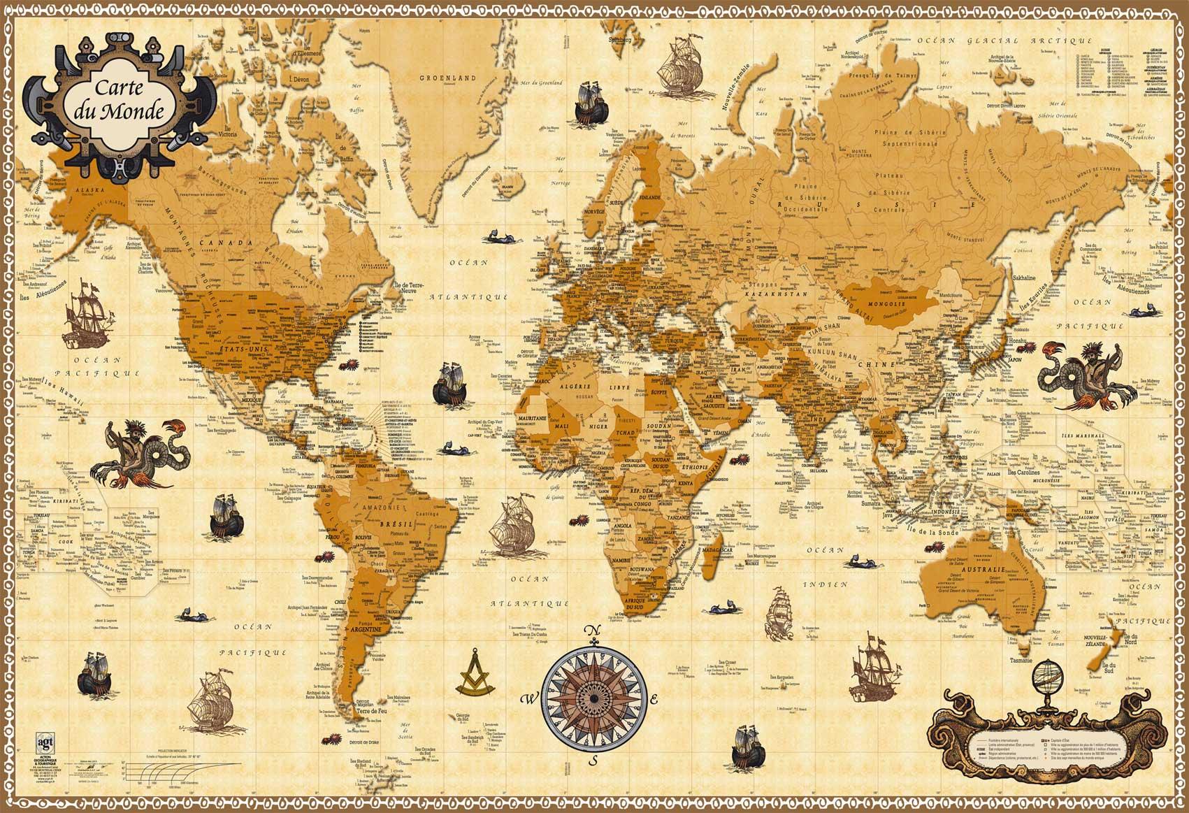 carte du monde antique AGT   produit